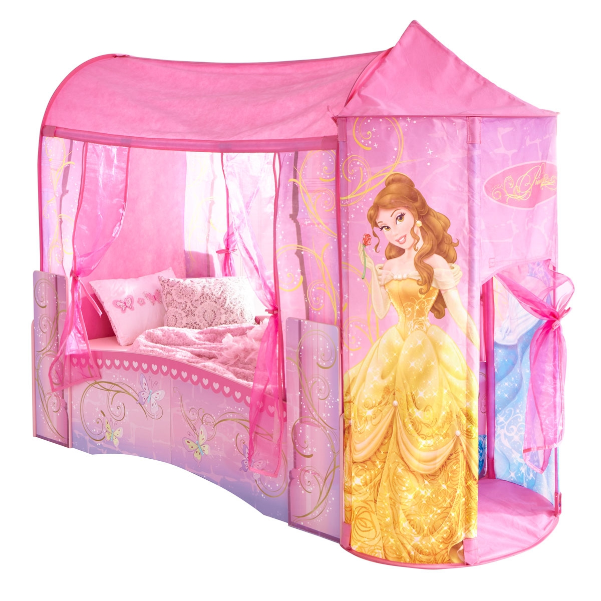 lit enfant ch teau princesse disney. Black Bedroom Furniture Sets. Home Design Ideas