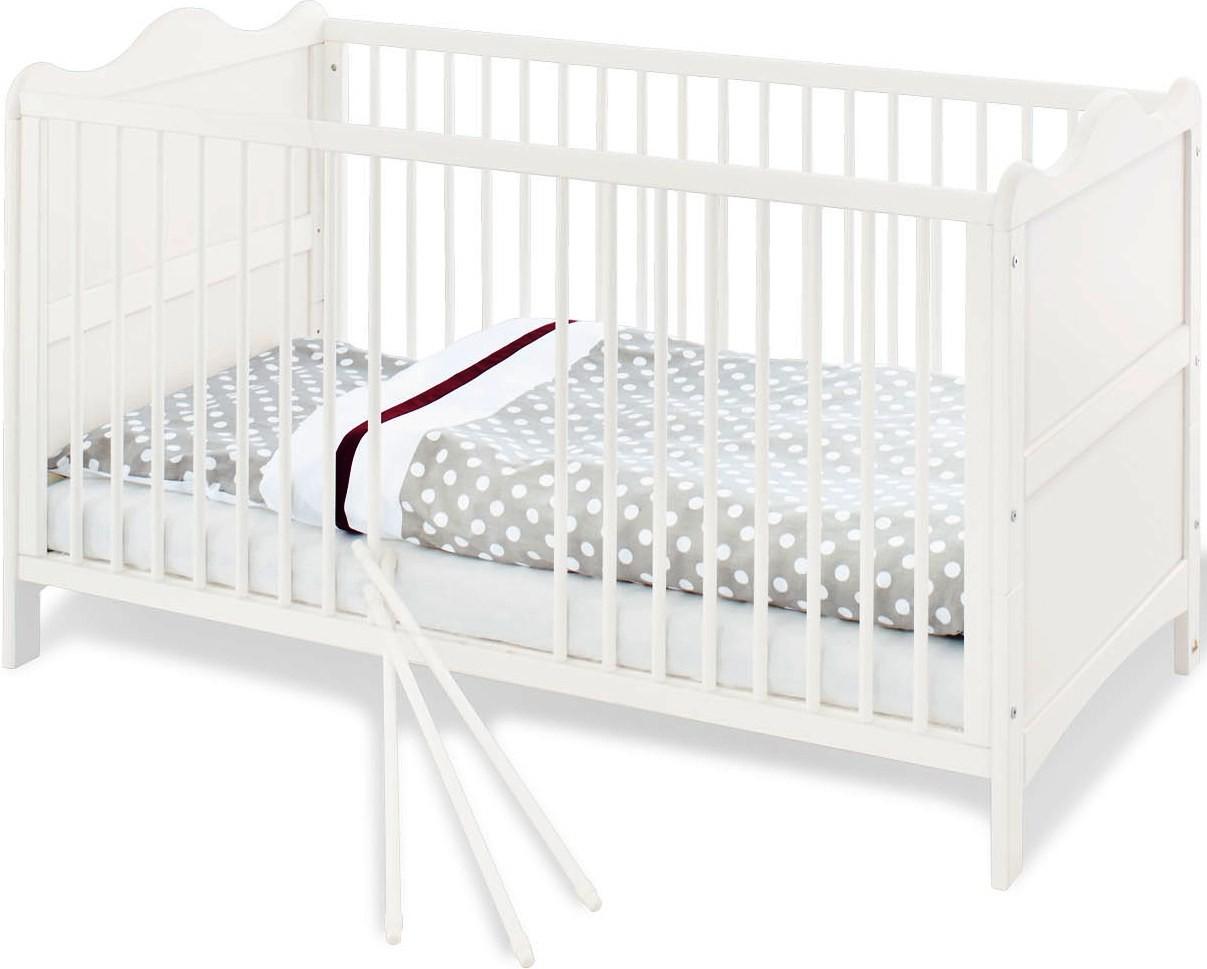 lit volutif barreaux pin massif blanc florentina. Black Bedroom Furniture Sets. Home Design Ideas