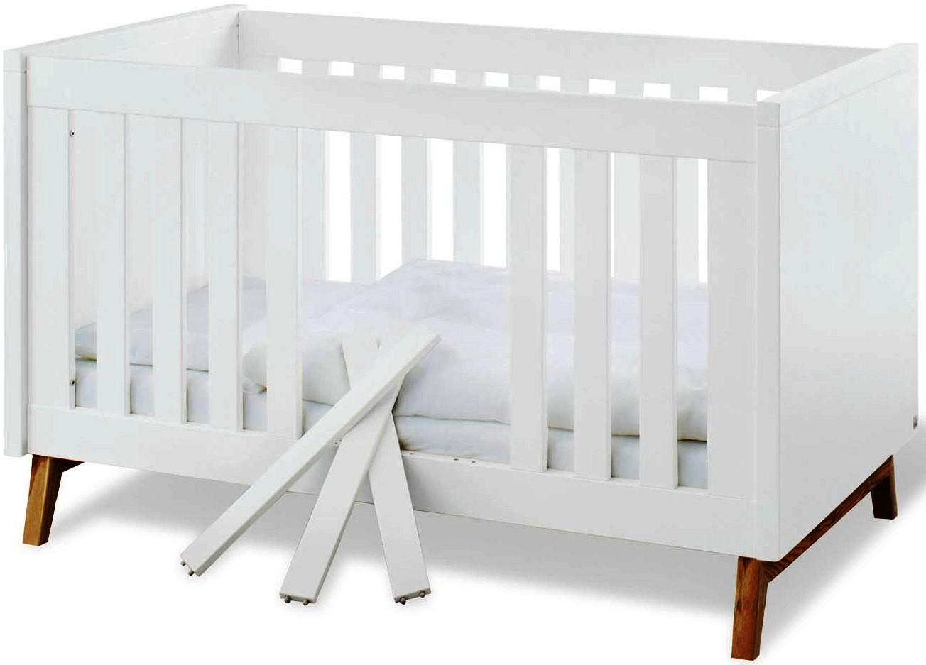 lit volutif bois laqu blanc riva. Black Bedroom Furniture Sets. Home Design Ideas
