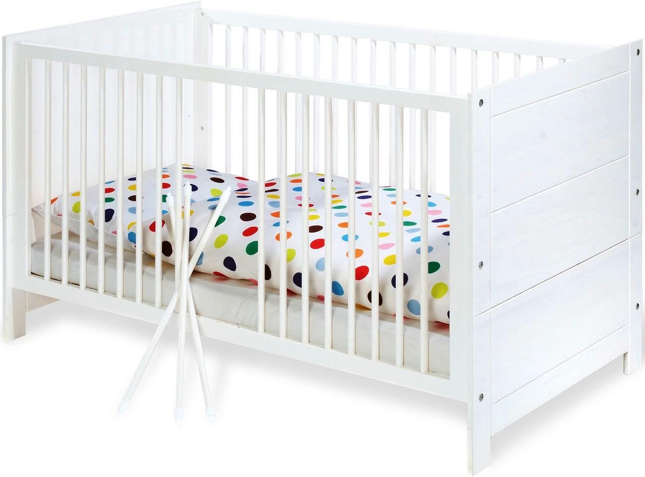 lit volutif pin massif blanc puro 70. Black Bedroom Furniture Sets. Home Design Ideas