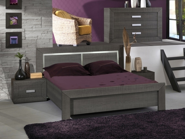 lit gris anthracite luminaire int gr lima mod le 140 x 190 cm. Black Bedroom Furniture Sets. Home Design Ideas