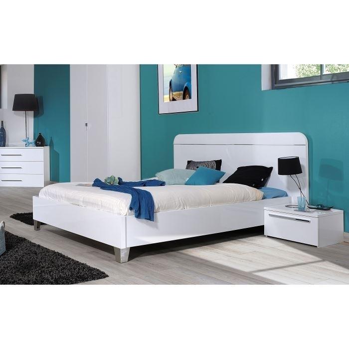lit laqu blanc first. Black Bedroom Furniture Sets. Home Design Ideas