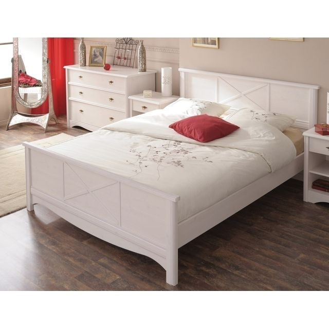 lit adulte blanc romantica. Black Bedroom Furniture Sets. Home Design Ideas