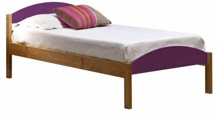 lit pin massif lilac et naturel maximus 90x190 cm. Black Bedroom Furniture Sets. Home Design Ideas