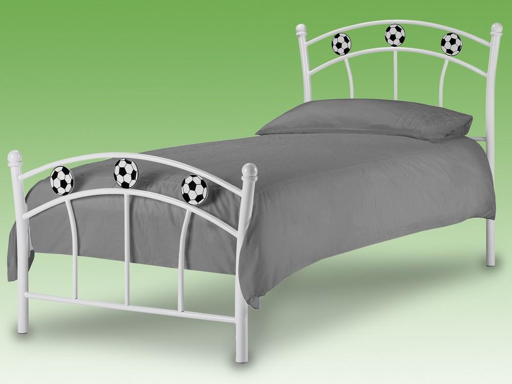 lit m tal blanc football 90. Black Bedroom Furniture Sets. Home Design Ideas
