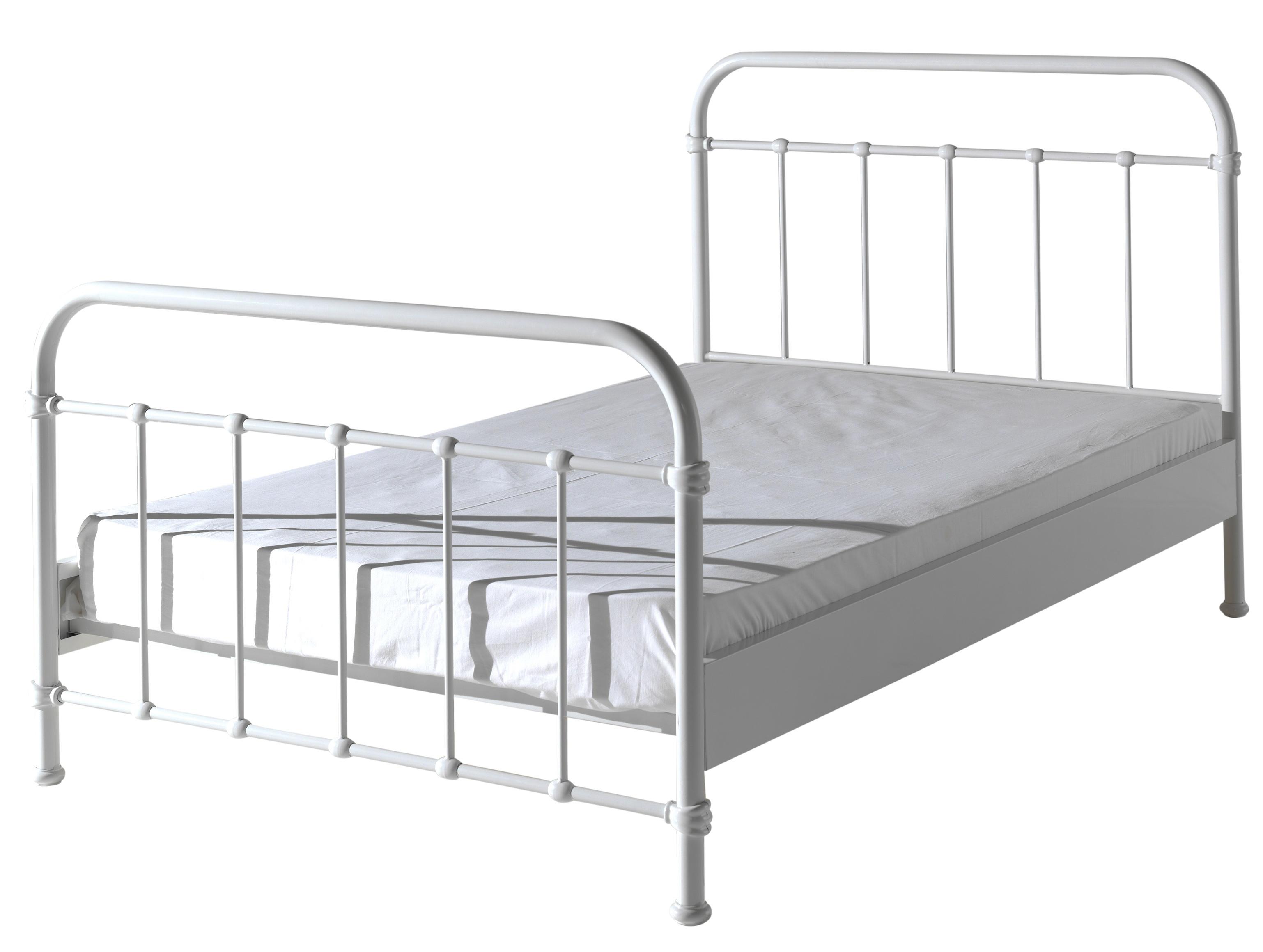 lit m tal blanc june 120. Black Bedroom Furniture Sets. Home Design Ideas