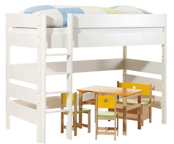 lit mezzanine blanc sophie 90 hauteur 100 cm rideaux et tunnel sans rideaux et tunnel. Black Bedroom Furniture Sets. Home Design Ideas