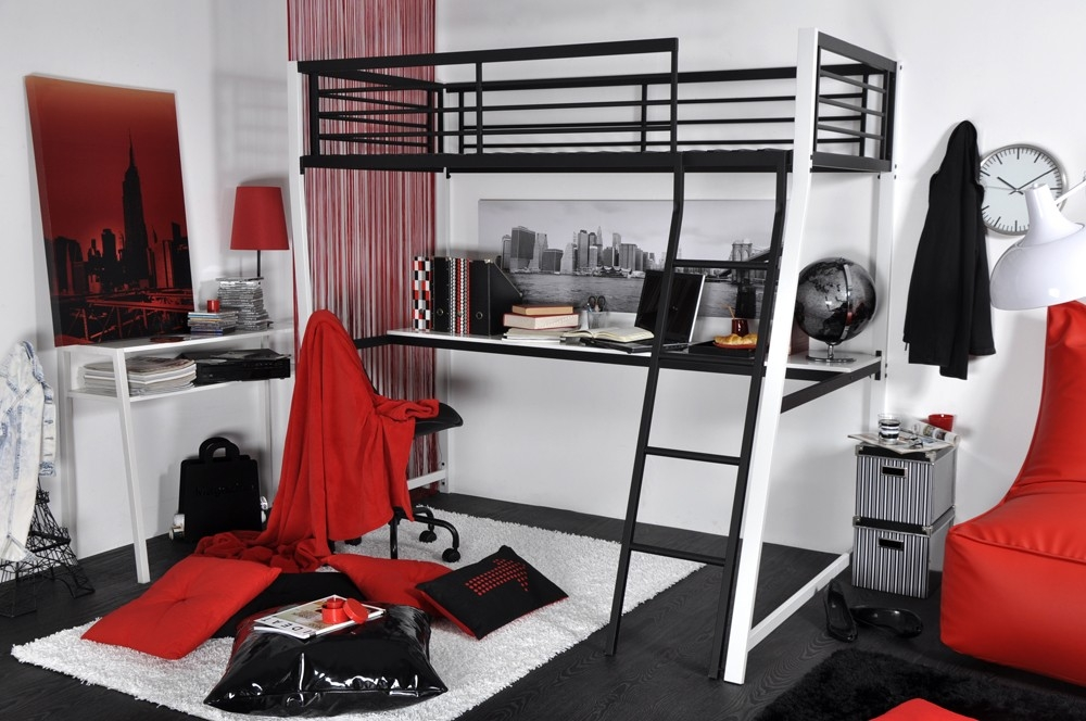 les tendances lit mezzanine et bureau karl. Black Bedroom Furniture Sets. Home Design Ideas