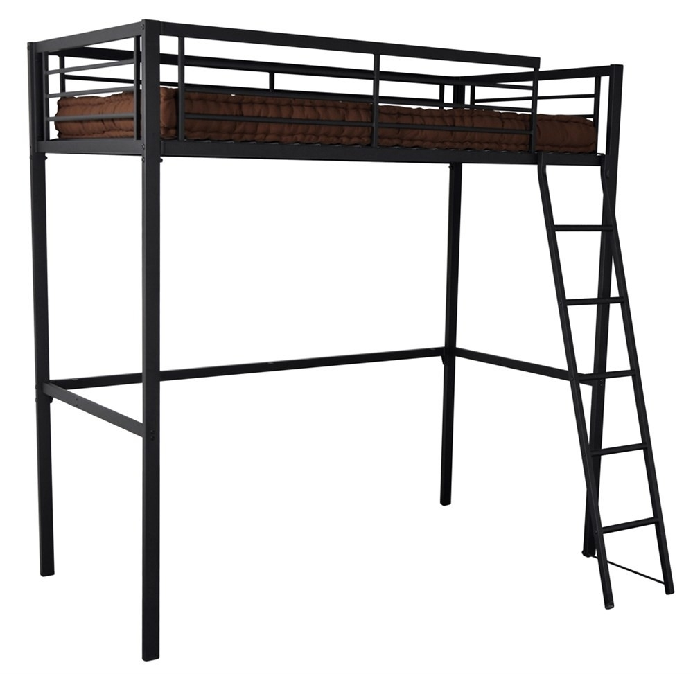 lit mezzanine m tal anthracite 90 grafik. Black Bedroom Furniture Sets. Home Design Ideas