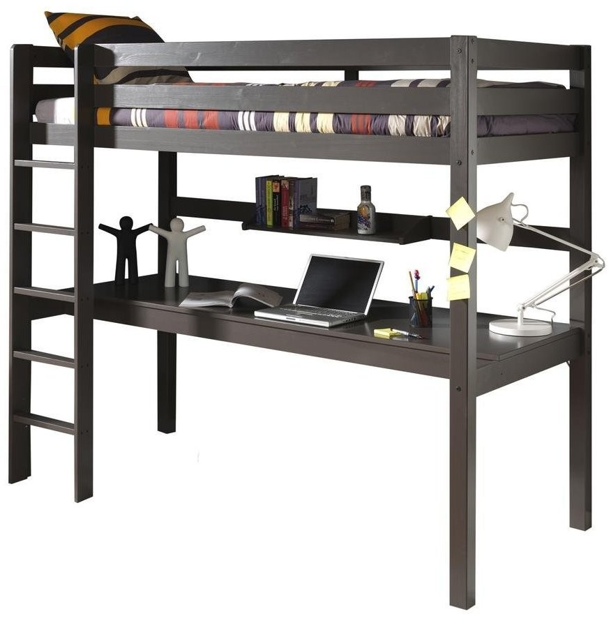 lit mezzanine pin massif taupe pinie 90. Black Bedroom Furniture Sets. Home Design Ideas