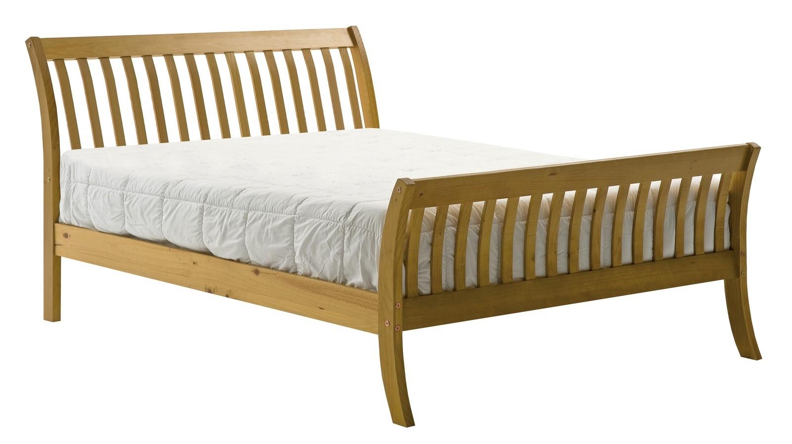 lit pin massif miel 140 x 190 cm kerta. Black Bedroom Furniture Sets. Home Design Ideas