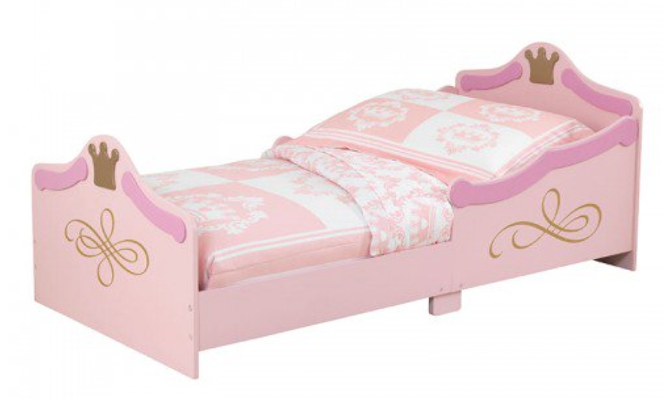 Lit rose princesse kidkraft 76139 lit enfant traineau for Lit 70x140 age