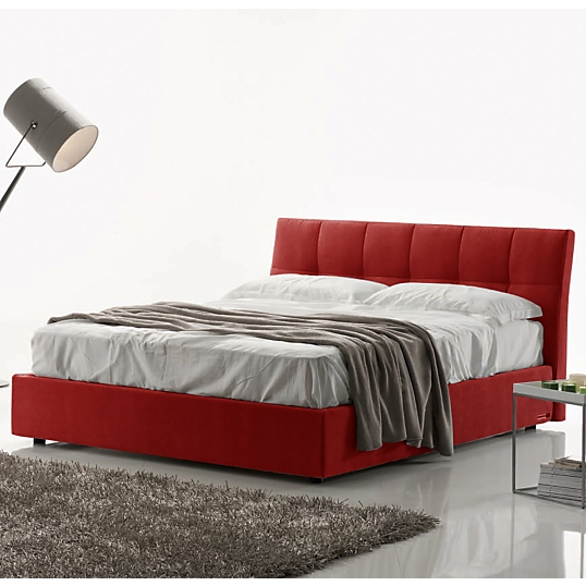 lit coffre capitonn rouge clever. Black Bedroom Furniture Sets. Home Design Ideas