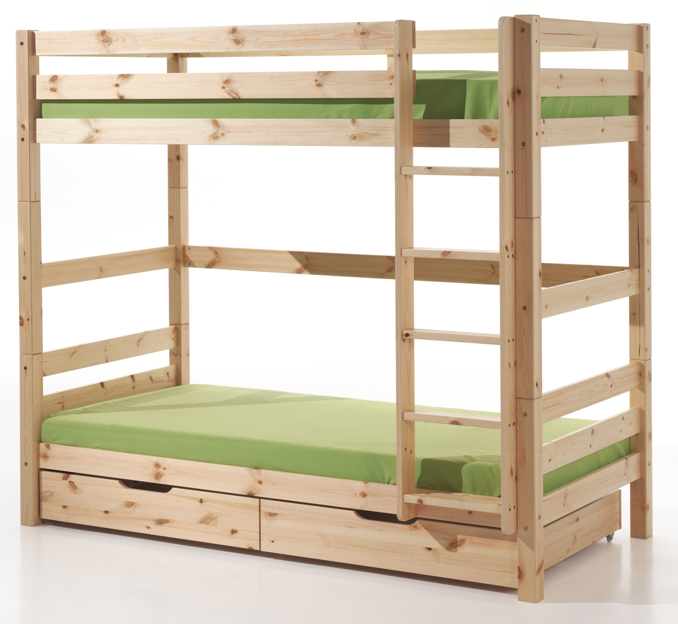 lit superpos avec tiroir pin massif naturel pinie h 180. Black Bedroom Furniture Sets. Home Design Ideas