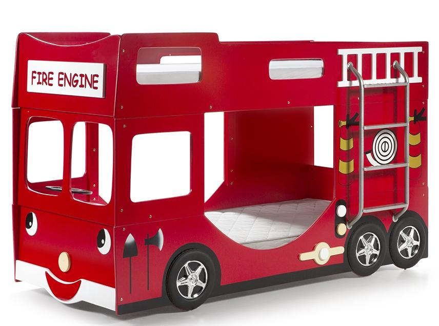lit superpos camion de pompier. Black Bedroom Furniture Sets. Home Design Ideas