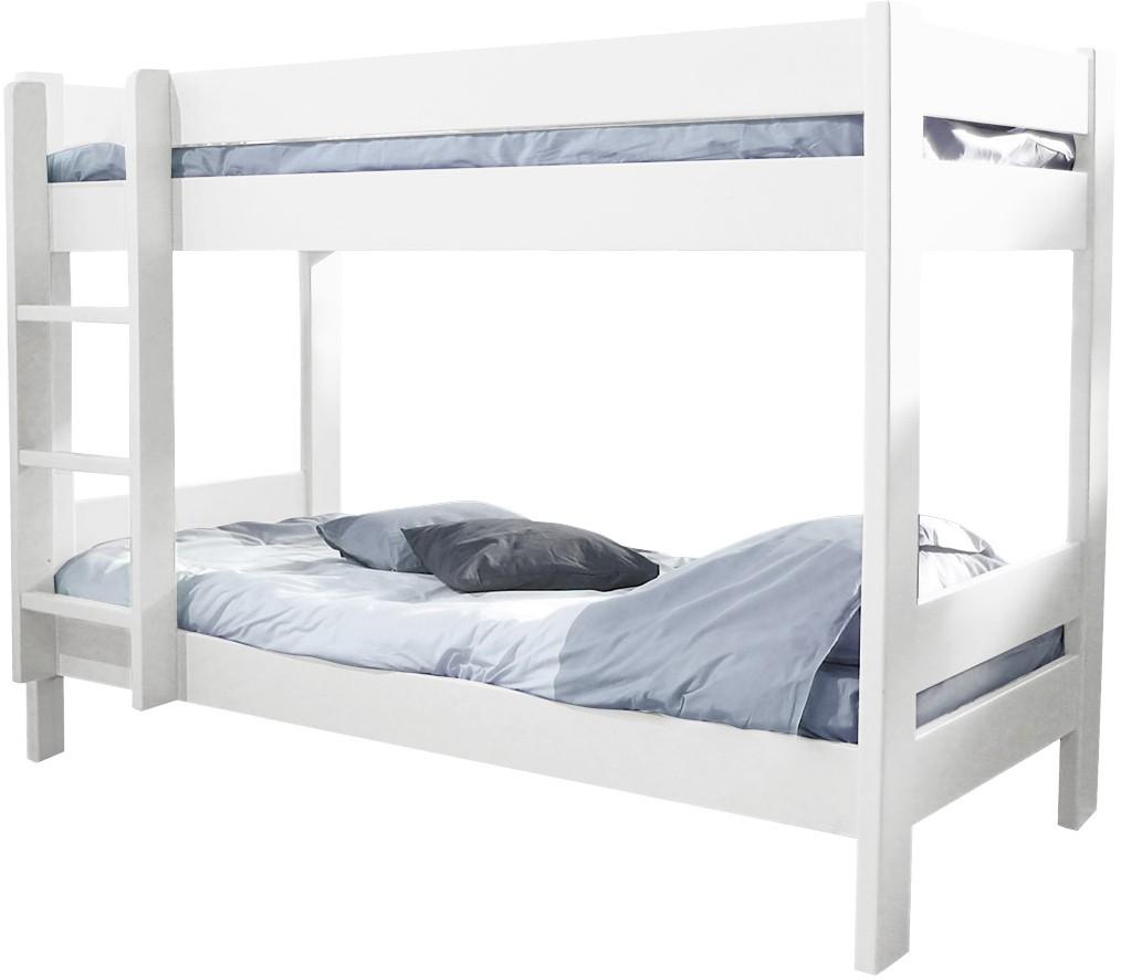 lit superpos h149 indissociable laqu blanc dominique 80. Black Bedroom Furniture Sets. Home Design Ideas