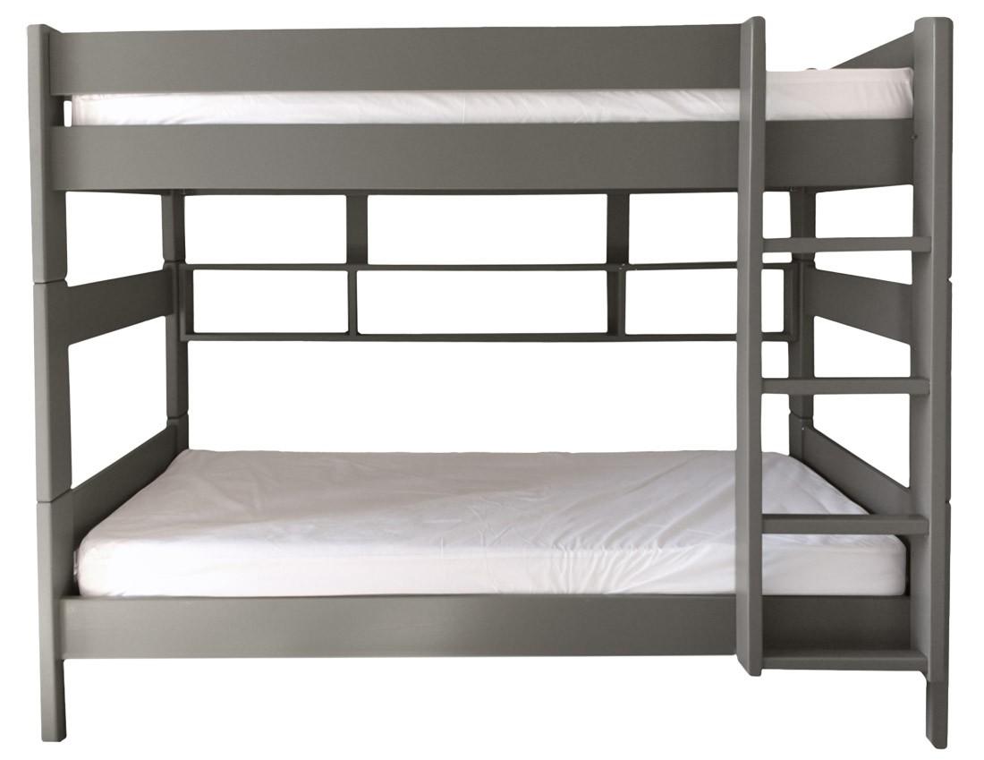 lit superpos h166 dissociable laqu taupe clair dominique 80. Black Bedroom Furniture Sets. Home Design Ideas