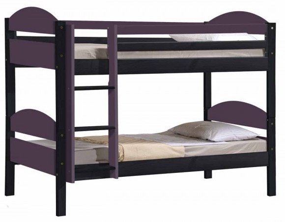 lit superpos 90 x 190 cm gris et lilas maxim. Black Bedroom Furniture Sets. Home Design Ideas