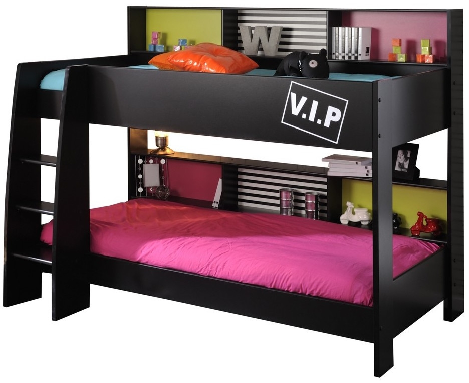 lit superpos noir star 90. Black Bedroom Furniture Sets. Home Design Ideas