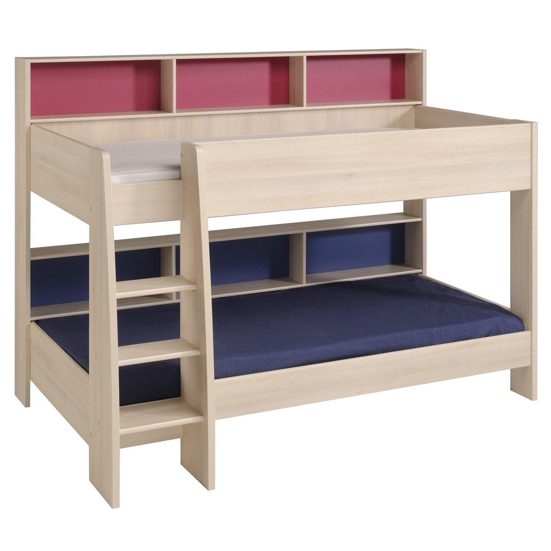 lit superpos acacia bois clair kelo. Black Bedroom Furniture Sets. Home Design Ideas