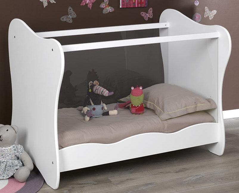 lit transformable blanc iris. Black Bedroom Furniture Sets. Home Design Ideas