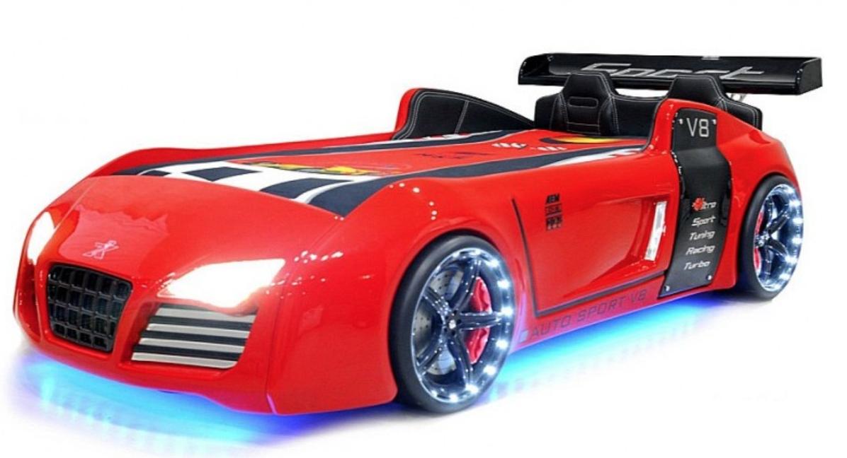 lit voiture turbo v8 rouge leds. Black Bedroom Furniture Sets. Home Design Ideas
