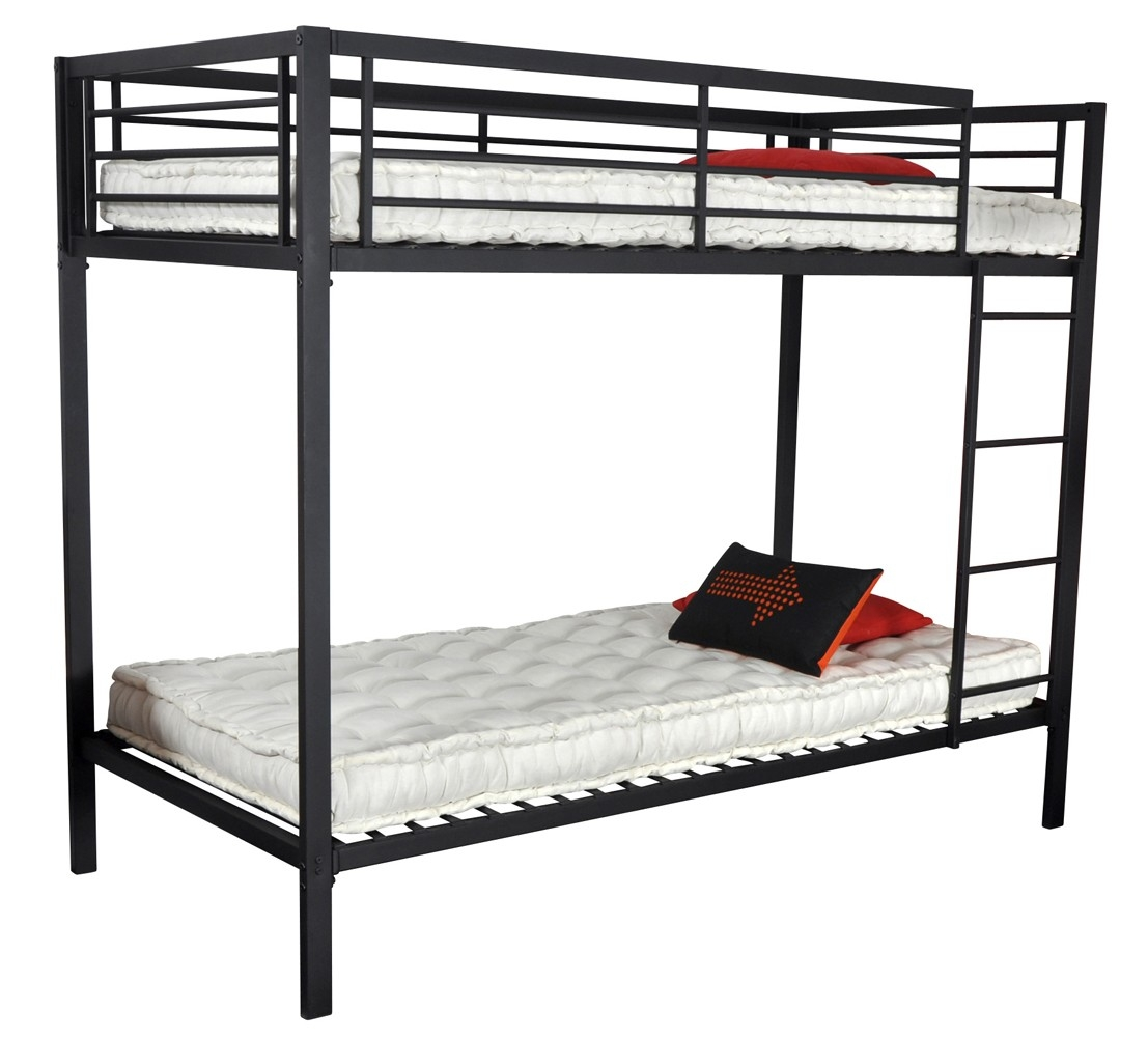 lit superpose metal. Black Bedroom Furniture Sets. Home Design Ideas