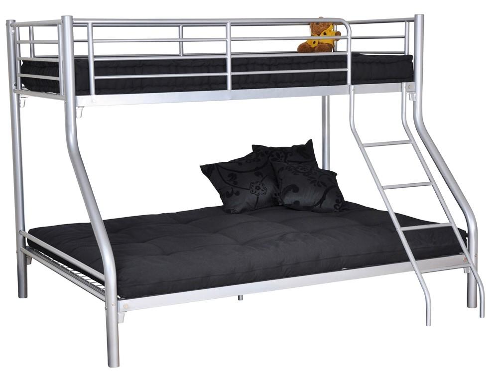 lits superpos s m tal gris bibop. Black Bedroom Furniture Sets. Home Design Ideas