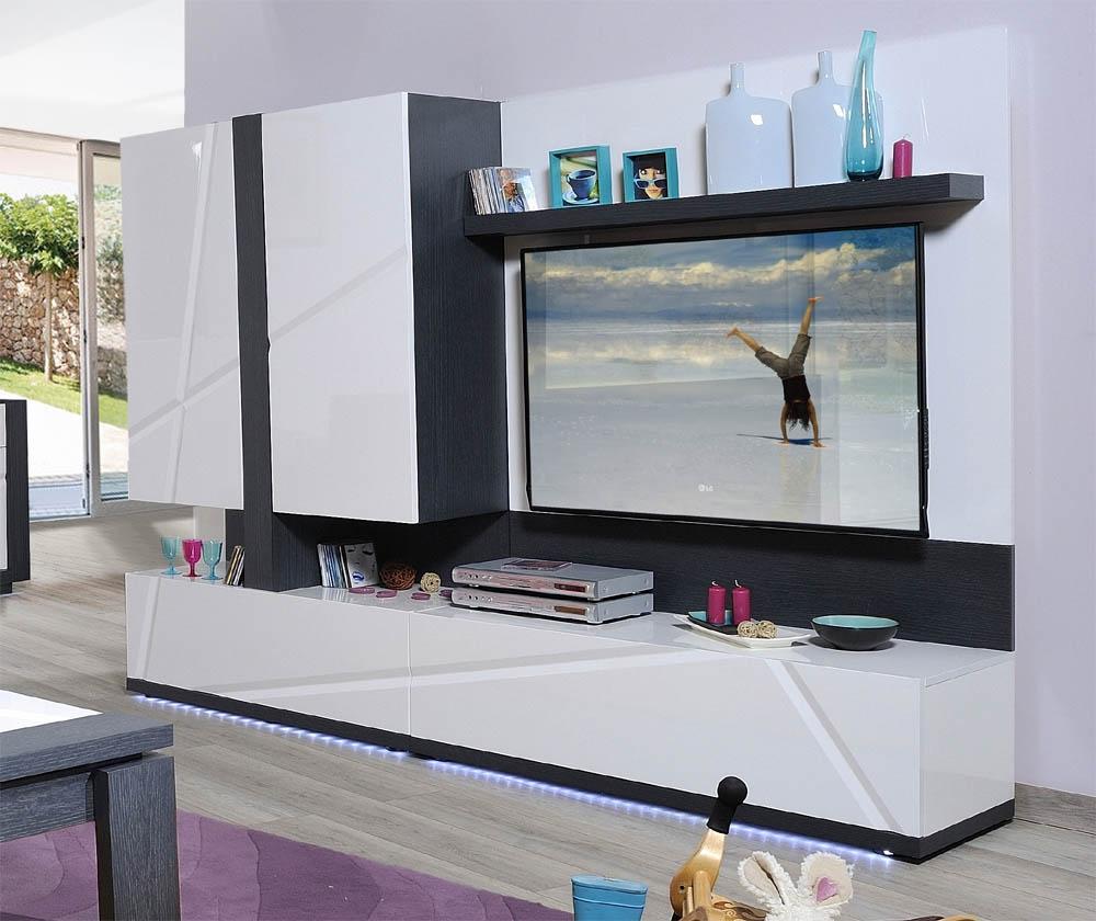 Meuble Et Banc Tv Mural Lestendances Fr # Meuble De Tv Fixe Au Mur
