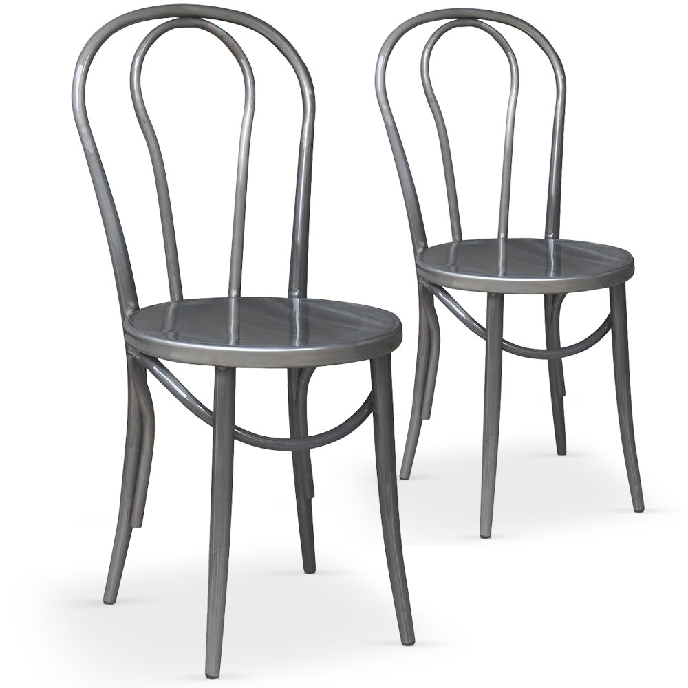chaises bistrot argent coste. Black Bedroom Furniture Sets. Home Design Ideas