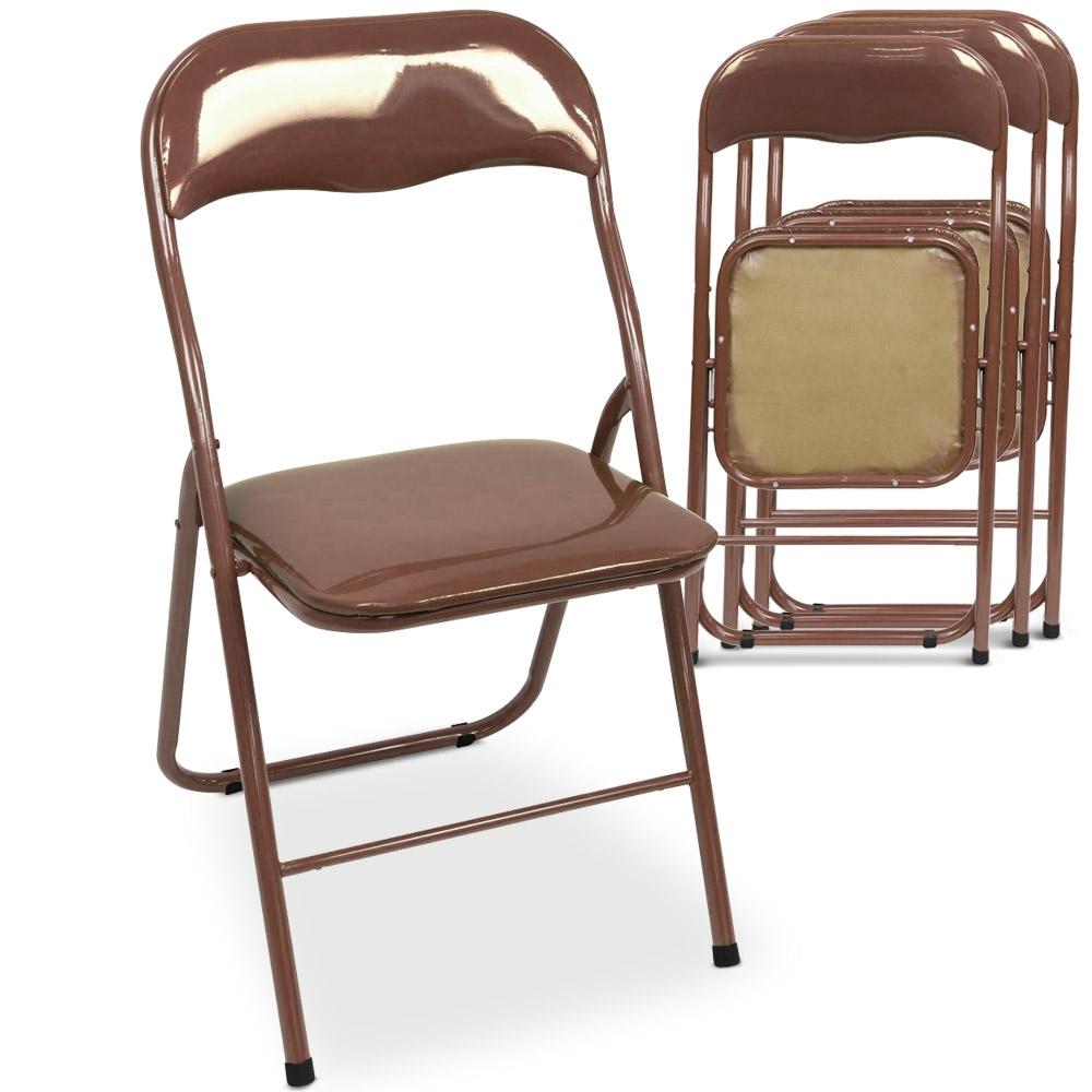 chaise pliante taly marron. Black Bedroom Furniture Sets. Home Design Ideas