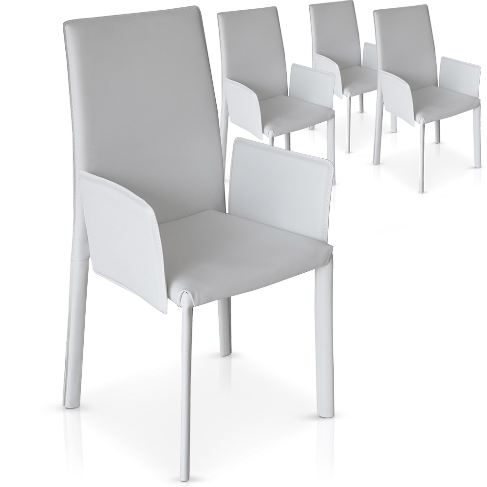 Chaise blanche design yone lot de 4 for La chaise blanche
