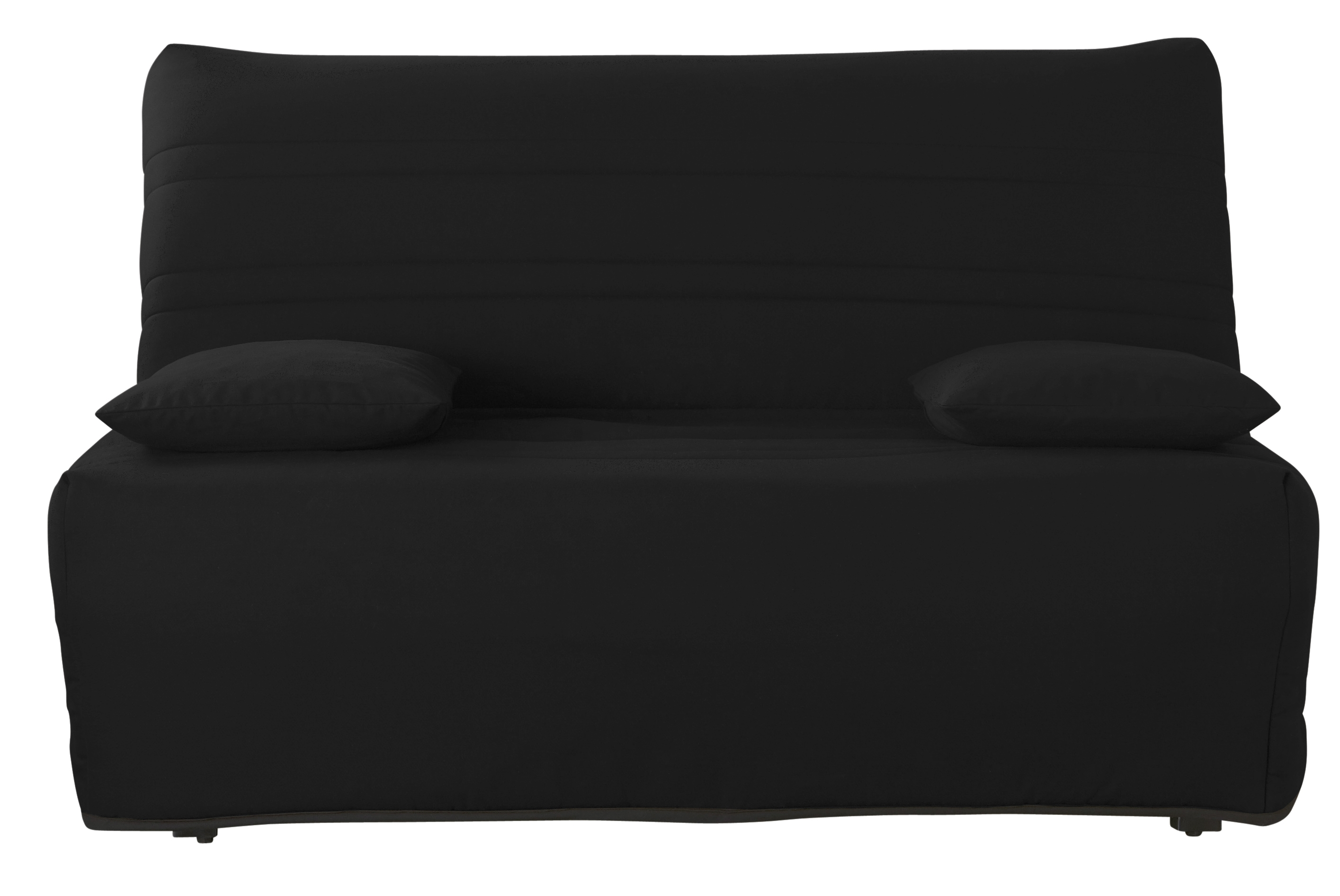 banquette bz noir 140 dunlopillo malor. Black Bedroom Furniture Sets. Home Design Ideas