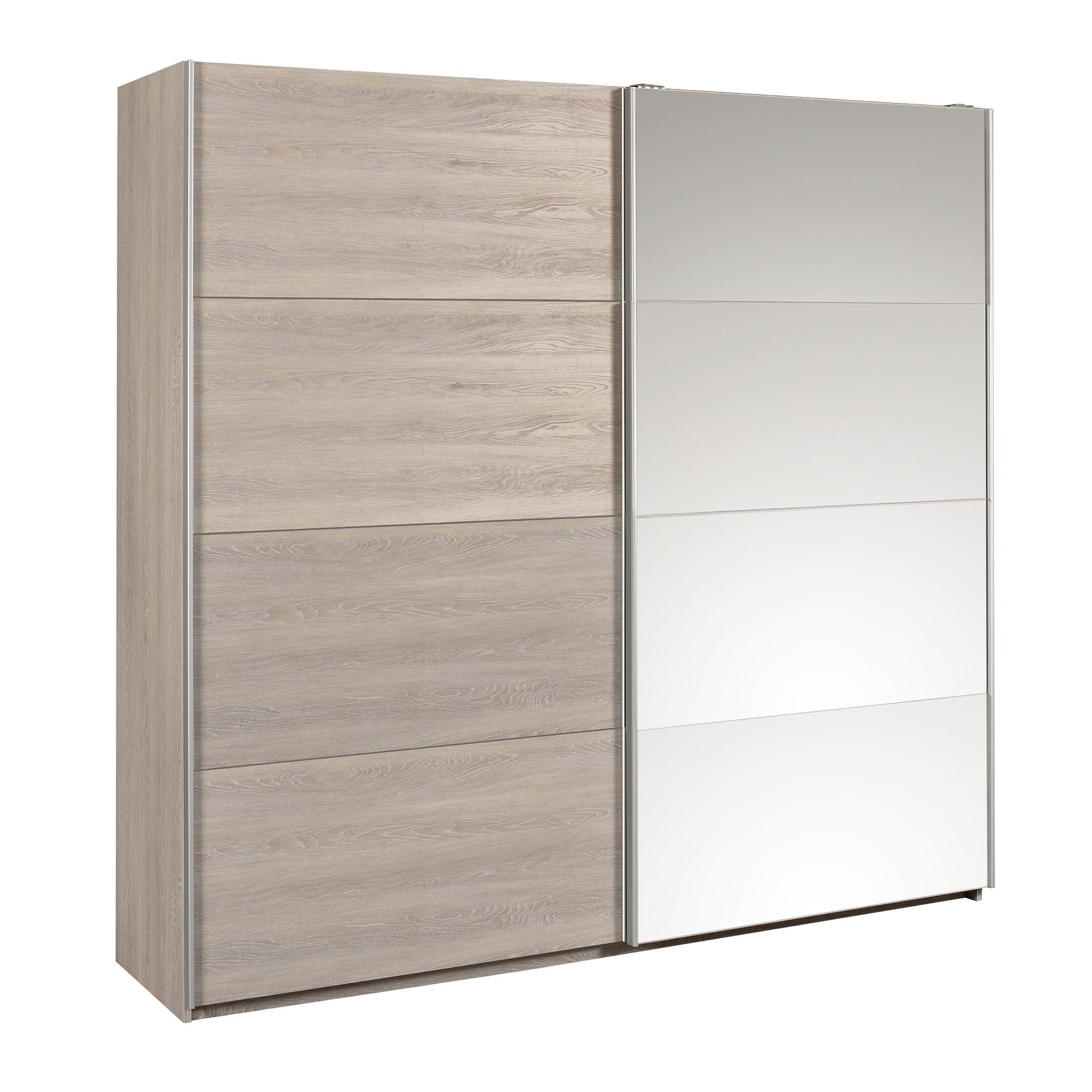 armoire 2 portes gris oak lima. Black Bedroom Furniture Sets. Home Design Ideas
