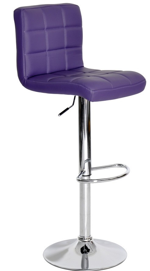 tabouret capitonn pu violet. Black Bedroom Furniture Sets. Home Design Ideas
