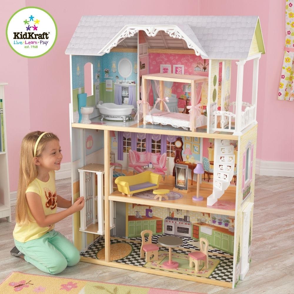 les tendances maison de poup es kaylee kidkraft 65869. Black Bedroom Furniture Sets. Home Design Ideas