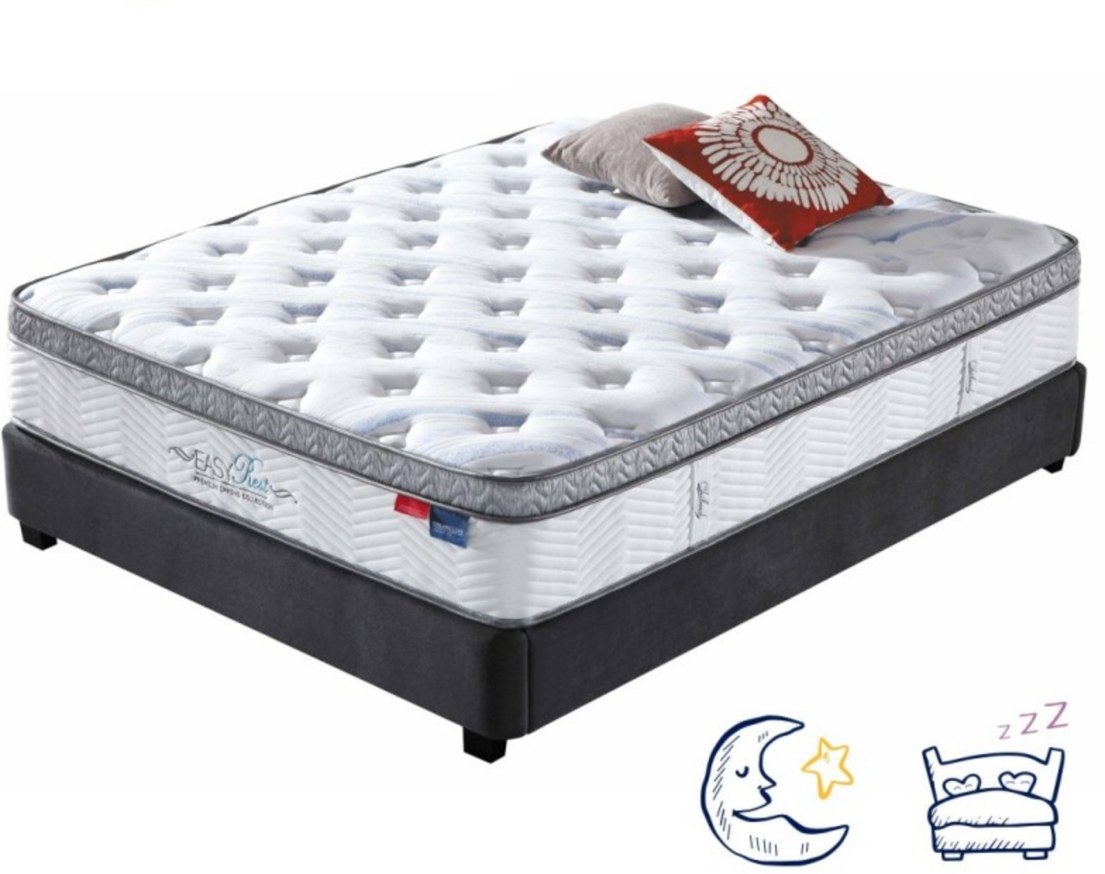 matelas m moire de forme 140x190 cm luxe eden 28cm. Black Bedroom Furniture Sets. Home Design Ideas