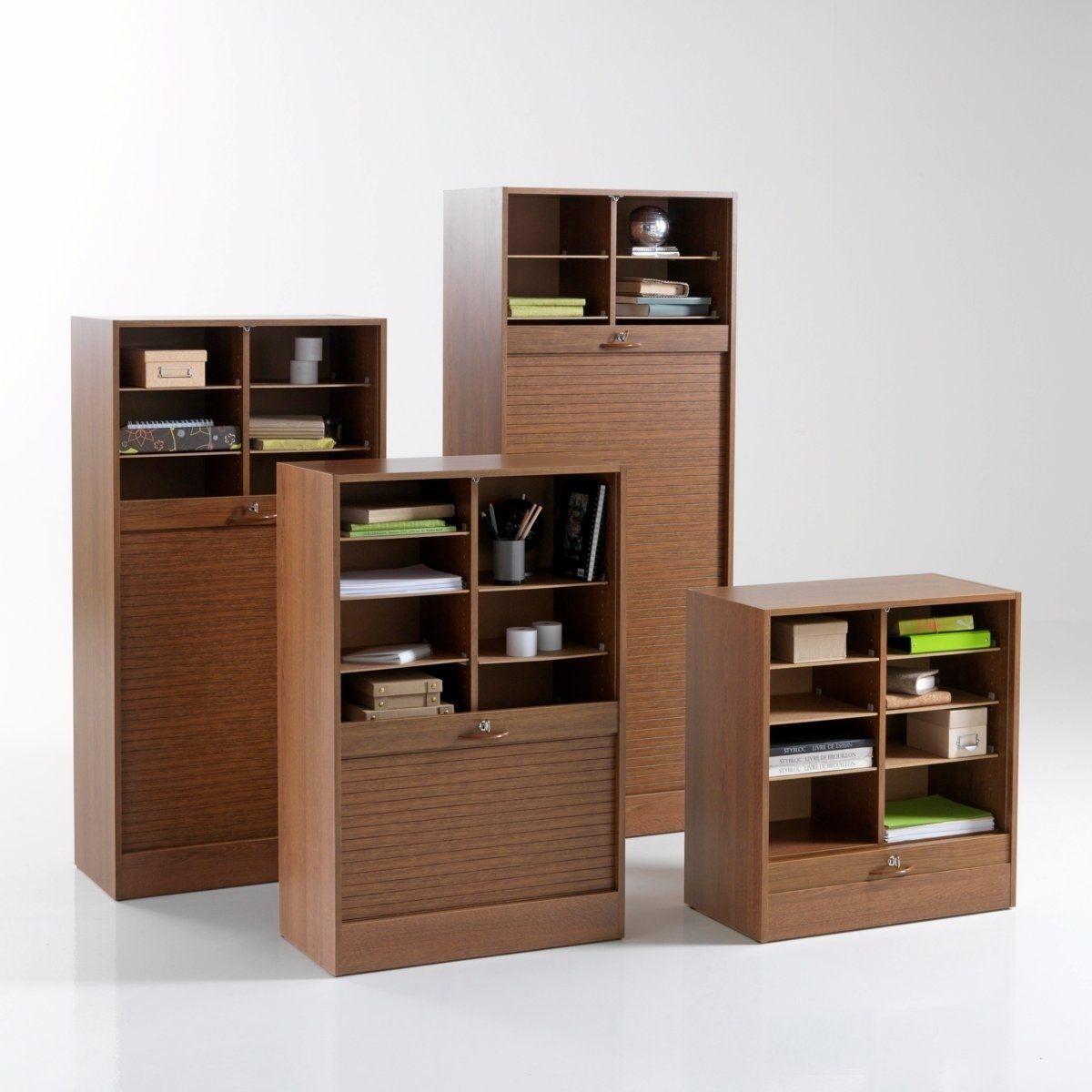 classeur de bureau rideau double tablettes ch ne officia hauteur 80 cm. Black Bedroom Furniture Sets. Home Design Ideas