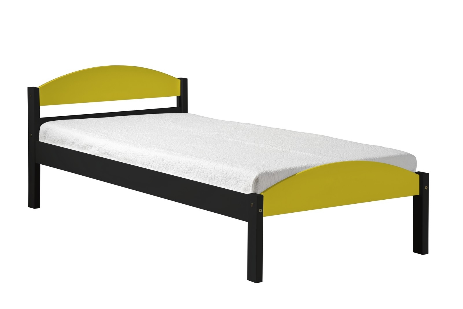 lit pin massif jaune et graphite maximus 90x190 cm. Black Bedroom Furniture Sets. Home Design Ideas