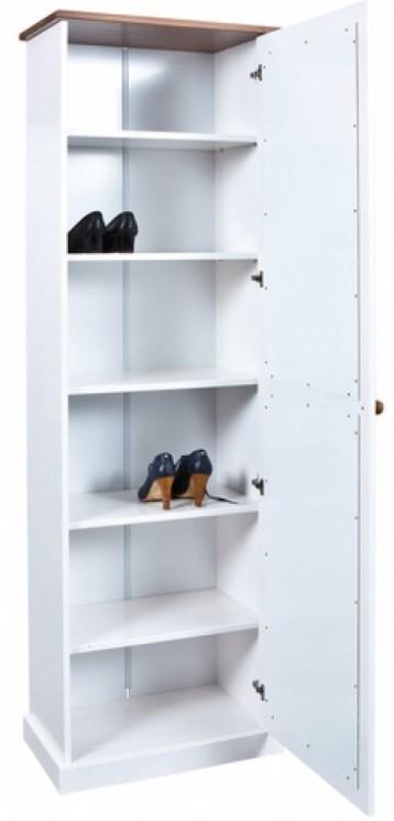 meuble chaussures bois massif blanc et bois s pia brun boule. Black Bedroom Furniture Sets. Home Design Ideas