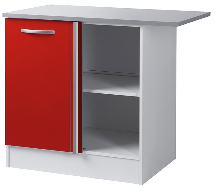 Meuble bas dangle Rouge 100 cm Viva  LesTendancesfr -> Meuble Tv DAngle Rouge