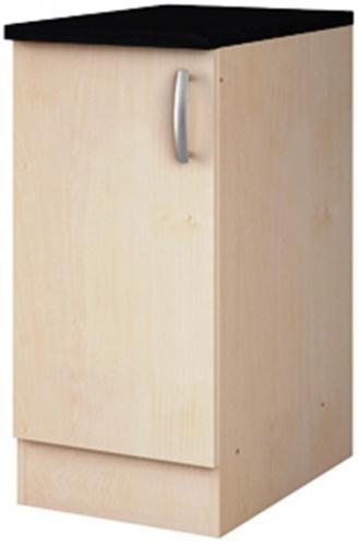 Meuble bas de cuisine 1 porte paprika erable 40 cm for Meuble porte bagage