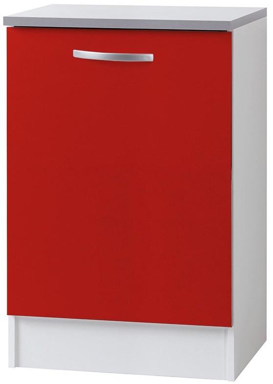 Meuble bas de cuisine rouge viva 60 cm for Meuble bas cuisine rouge
