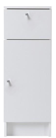 meuble bas de salle de bain 1 tiroir 1 porte blanc fiona. Black Bedroom Furniture Sets. Home Design Ideas