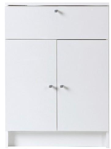 meuble bas de salle de bain 2 portes 1 tiroir blanc fiona. Black Bedroom Furniture Sets. Home Design Ideas