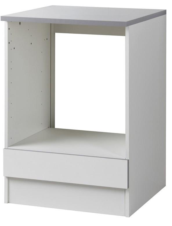 meuble bas four blanc viva 60 cm. Black Bedroom Furniture Sets. Home Design Ideas