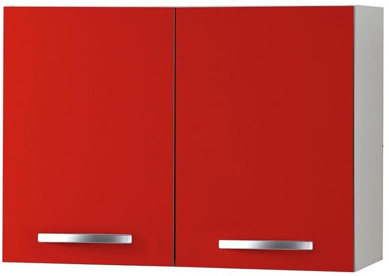 meuble de cuisine haut 2 portes rouge viva 80 cm. Black Bedroom Furniture Sets. Home Design Ideas
