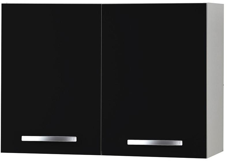 Meuble de cuisine haut noir 80 cm viva for Meuble 80 cm de longueur