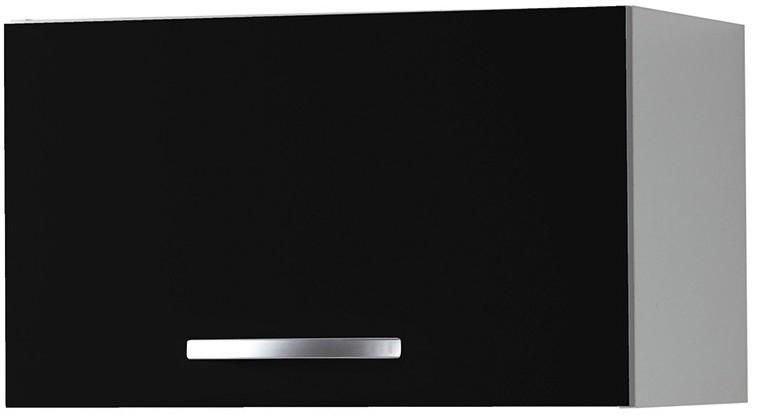 Les tendances meuble de cuisine haut noir 80 cm viva - Meuble haut cuisine 80 cm ...