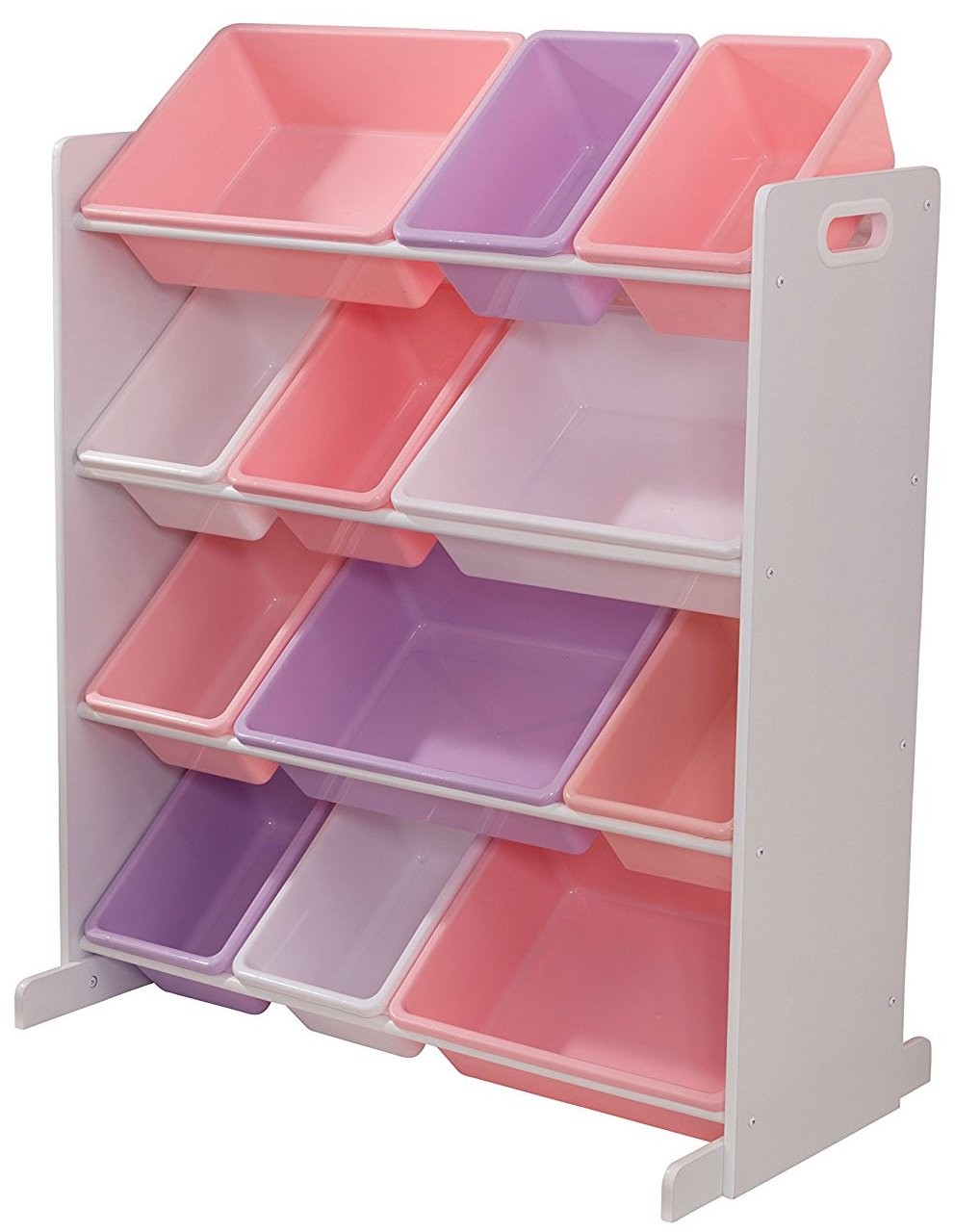 meuble de rangement 12 casiers couleurs pastels kidkraft 15450. Black Bedroom Furniture Sets. Home Design Ideas
